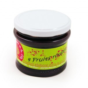 Confiture 4 fruits rouges 240 gr