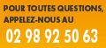 Telephone 02 98 92 50 63